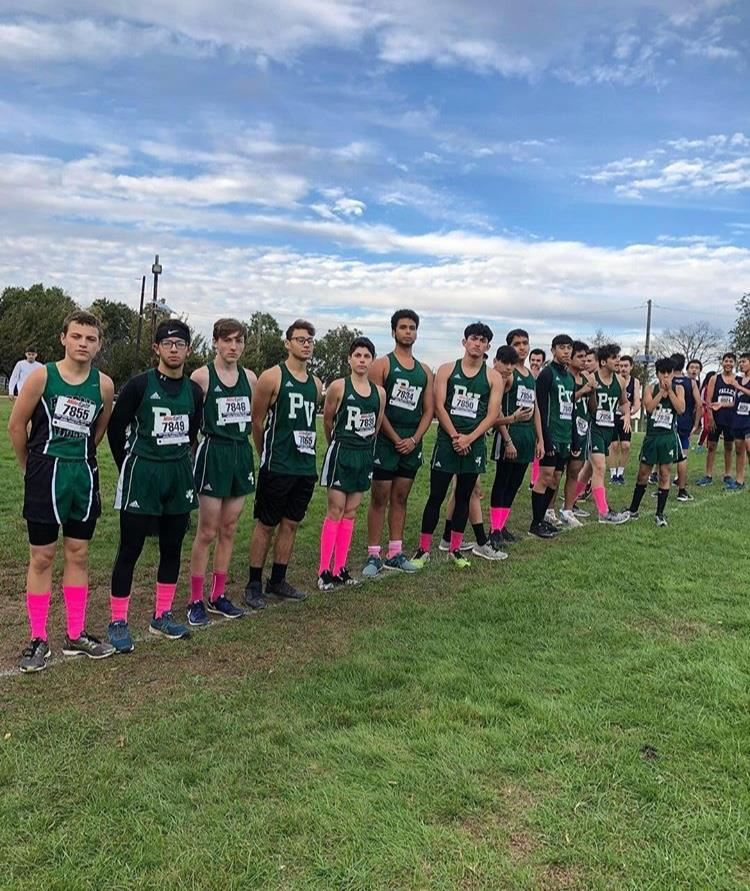 Boys Cross Country Team anticipates their race; photo credit Erik Getz