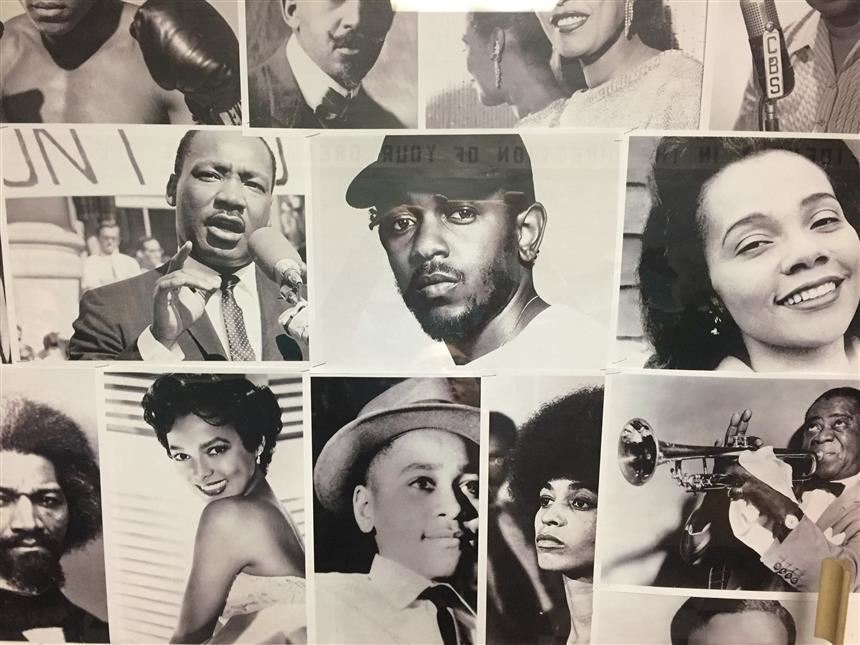 Teen Center Designs Bulletin Board Dedicated to Black History Month !