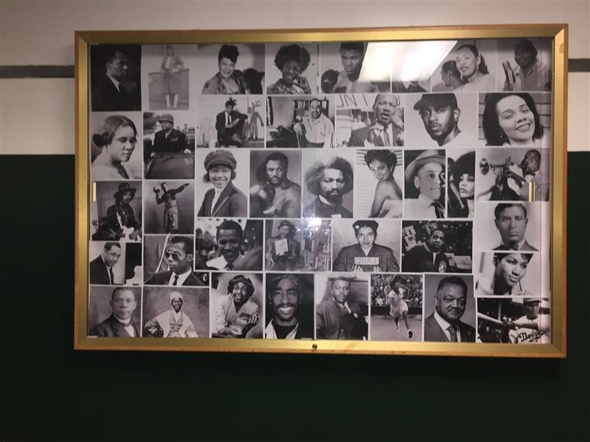 An image of the Black History Month Bulletin Board ; Photo Credit: Isabella Nicosia