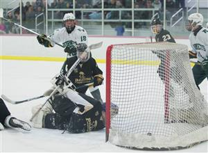 Dan Lapinski scoring a goal against Paramus Catholic
