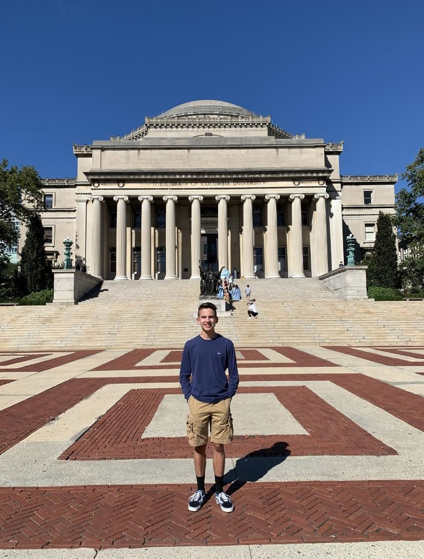 Christopher Perez outside of Columbia University; property of Christopher Perez