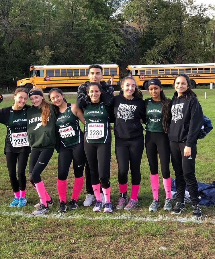 Girls Cross Country team anticipate their race; photo credit Erik Getz