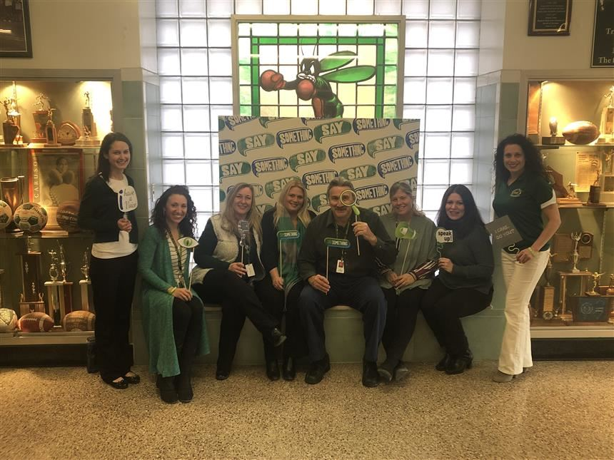 Guidance Department Participates in Say Something Week; Property of Ms. Danielle Vigilante