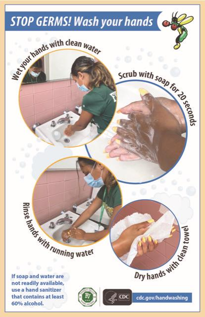 Personalized poster on hand washing; photo credit: Ms. Christine Hiel