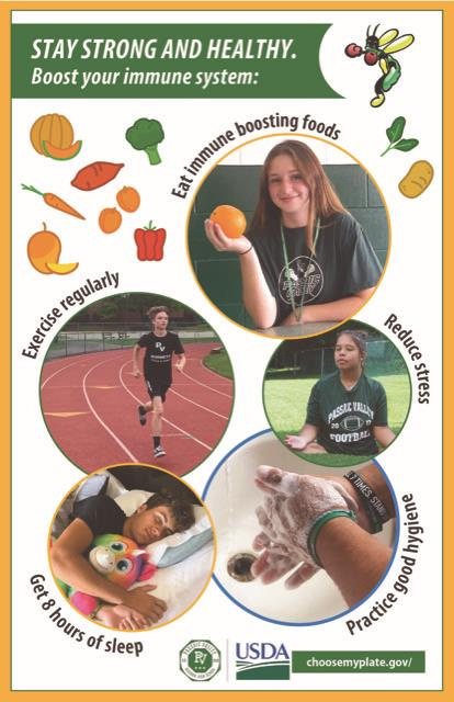 Personalized poster fostering a healthy lifestyle; photo credit: Ms. Christine Hiel