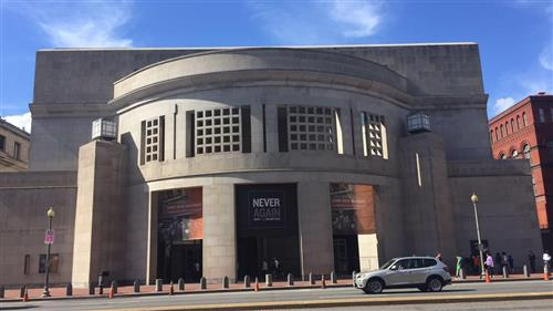 U.S Holocaust Memorial Museum as seen from front entrance ; photo credit Rachel Mele