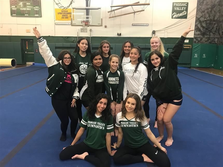 PV's Gymnastics Team at the Open House; photo credit: Grace Rose '19