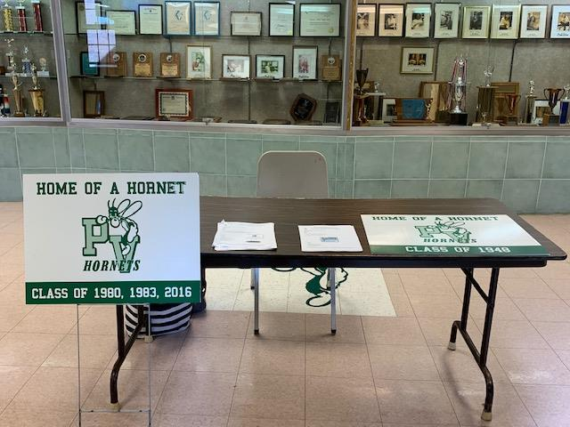 Sale of lawn signs in Center Hall; photo credit:  Ms. Jennifer Shue