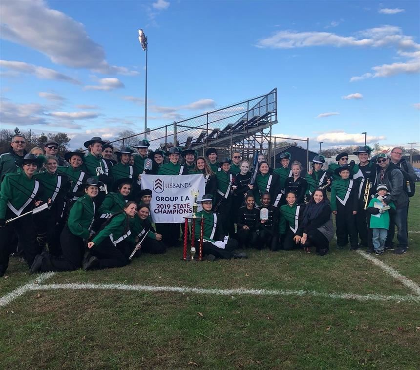 Marching Band after receriving the award; photo credit: Mr. DeLuccia