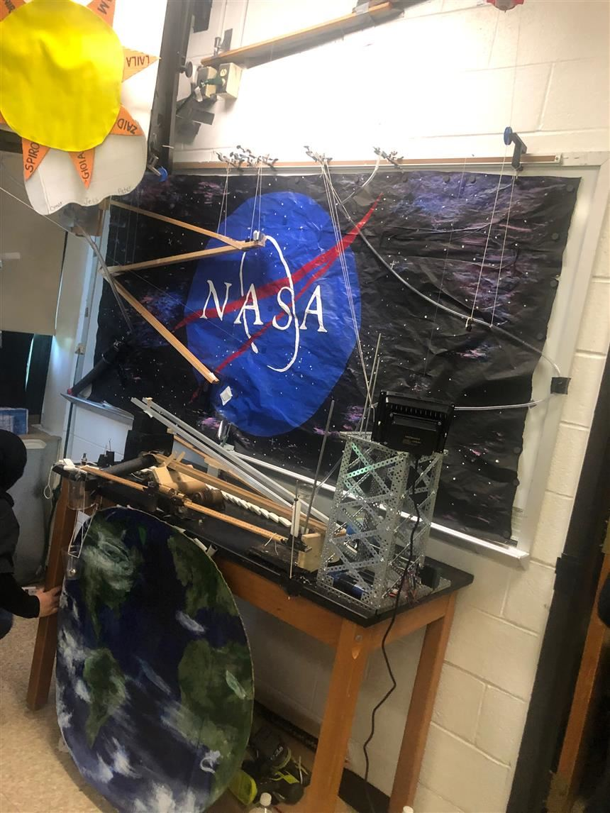 NASA team's setup; photo credit:  Hailey Raimo