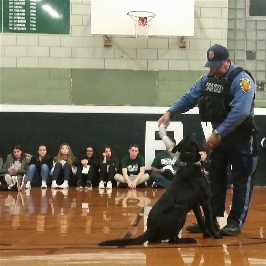 Canine Unit demonstration during the 8th grade orientation
