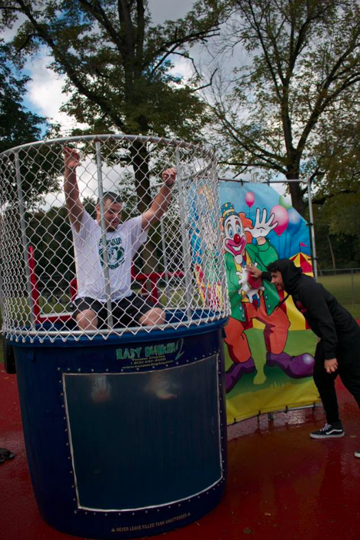 Mr. Joseph Feinstein at dunk tank; photo credit: @pv1940 on Facebook