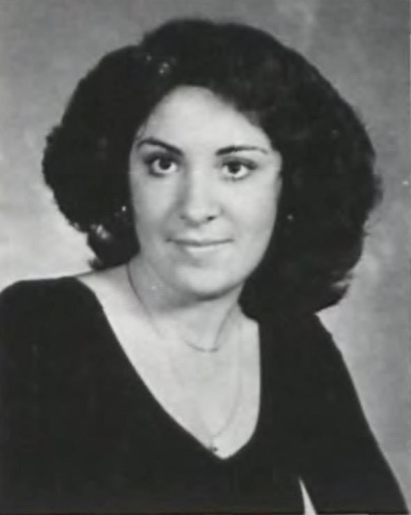 Mrs. Kathleen Dellanno during her senior year at PV; from The Valley Green