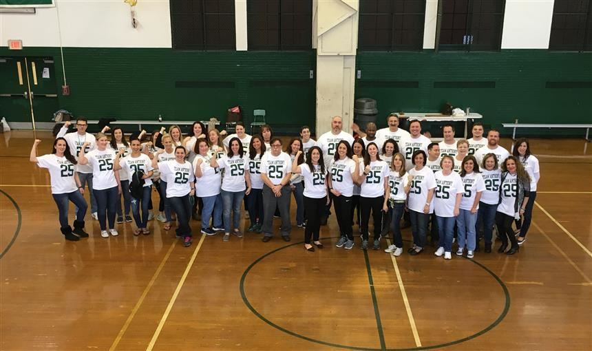 PV staff takes a group photo during Team Anthony Day