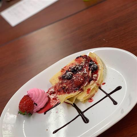 A crepe prepared for round one of the Top Chef competition. photo credit: Zuzana Geleta