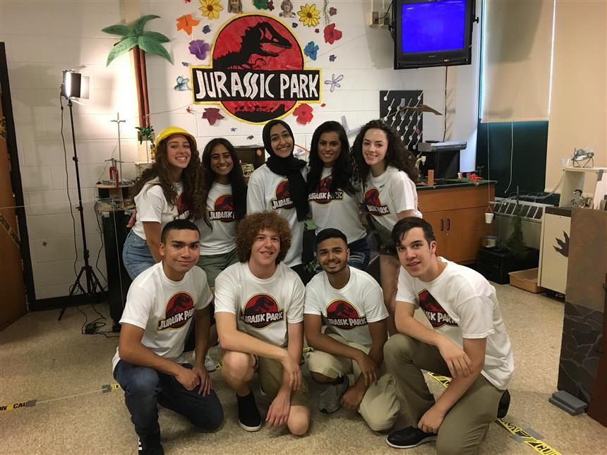 Jurassic Park group photo; photo credit:  Brianna Rodriguez