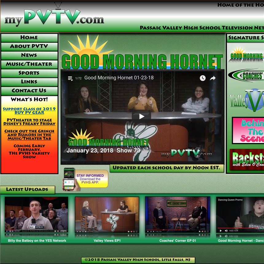 PVTV Expands Horizons with New Website