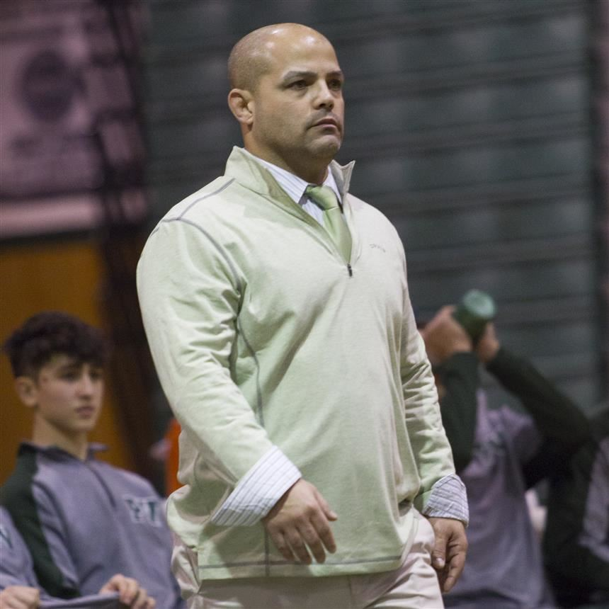 Coach Benvenuti as he prepares for a match in 2016; photo credit: Chris Krusberg