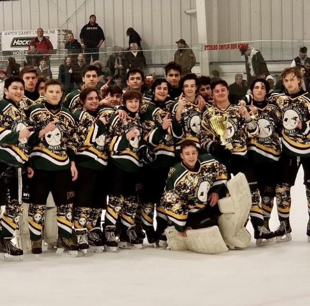 PVCG Hockey Team posing after their championship