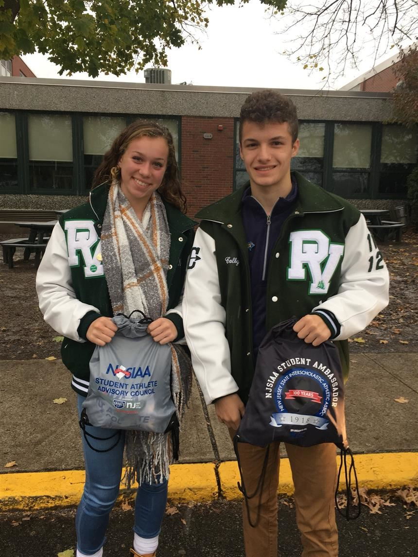 Taylor Hill '21 and Colby Sellitto '21; photo courtesy of @PVHS_SPORTS on Twitter