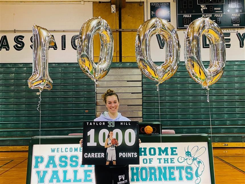 Taylor Hill after scoring her 1,000th point; photo credit: Mr. Salvatore