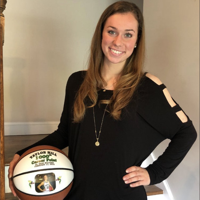 Taylor Hill Celebrated for 1,000th Point with Commemorative Basketball