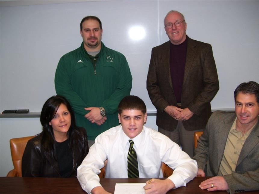 Mr. Max Wassel on Signing Day during his high school career; property of Max Wassel