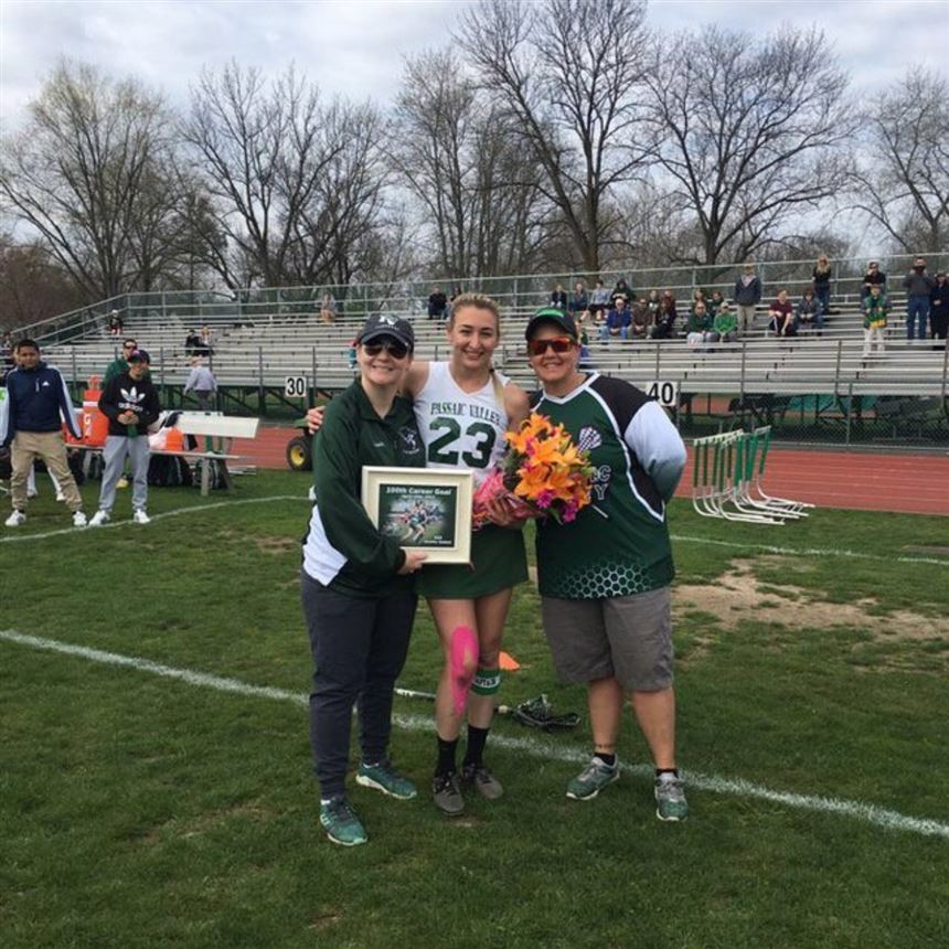 Jen Sabbak and Coaches Clark and Demsey; Mr.Carcich