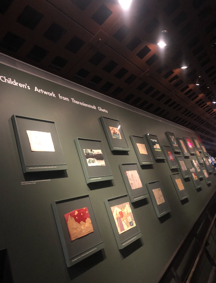 Children's Artwork During the Holocaust; Photo Credit Hailey Raimo '19