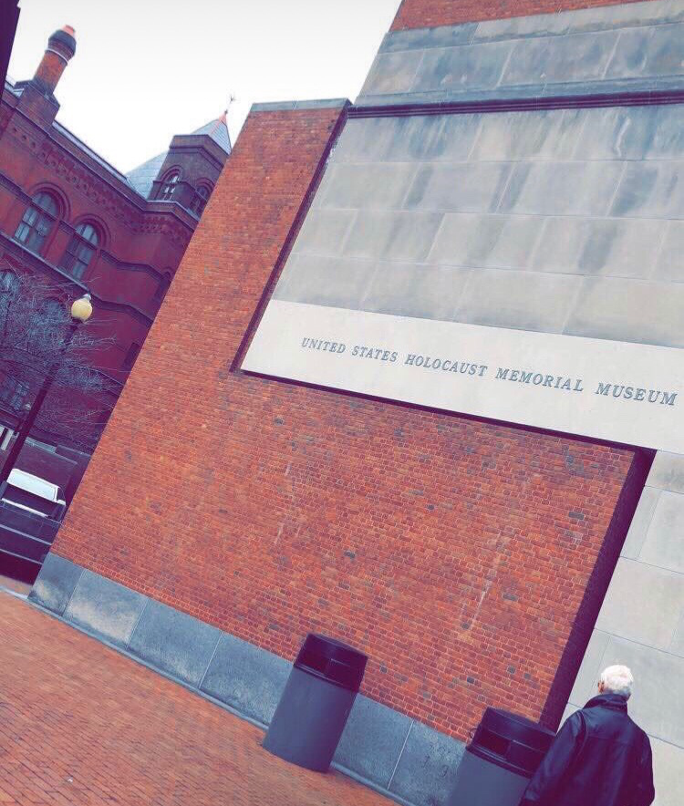 Outside view of the Holocaust Museum; Photo Credit Hailey Raimo '19