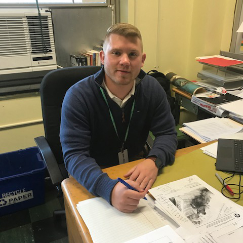 Mr. Michael O'Brien Begins Career as New Social Studies Teacher
