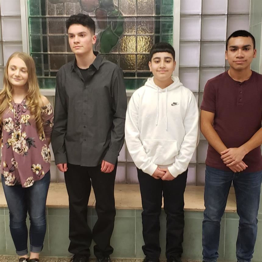 March's Students of the Month; photo credit: Mr. Rotella