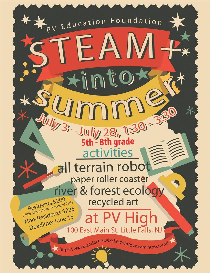 STEAM Summer Camp poster; property of STEAM program