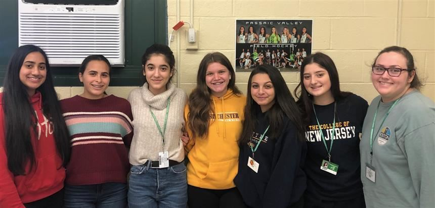 PV Volunteer Math Peer Tutors; photo credit: Mr. Sileo