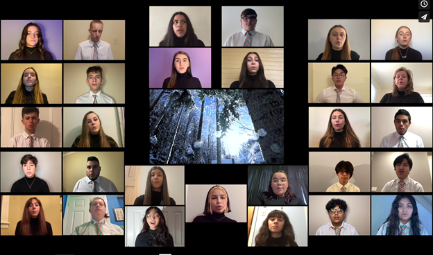 Screenshot from the Winter Concert broadcast available on PV's Vimeo page