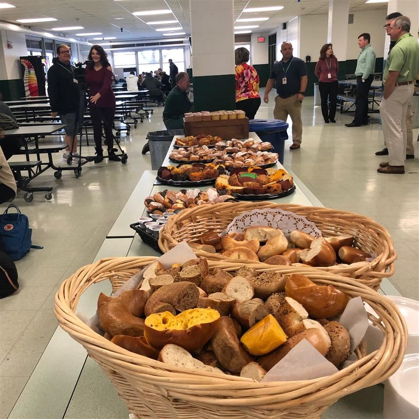 Food at the Superintendent's Breakfast; photo credit: Bushra Choudhury '19