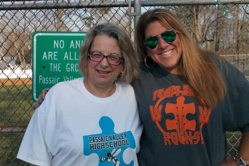 Ms. Amy Pellegrini and Dr. JoAnn Cardillo at the Autism Walk; photo courtesy of Ms. Janet Russo