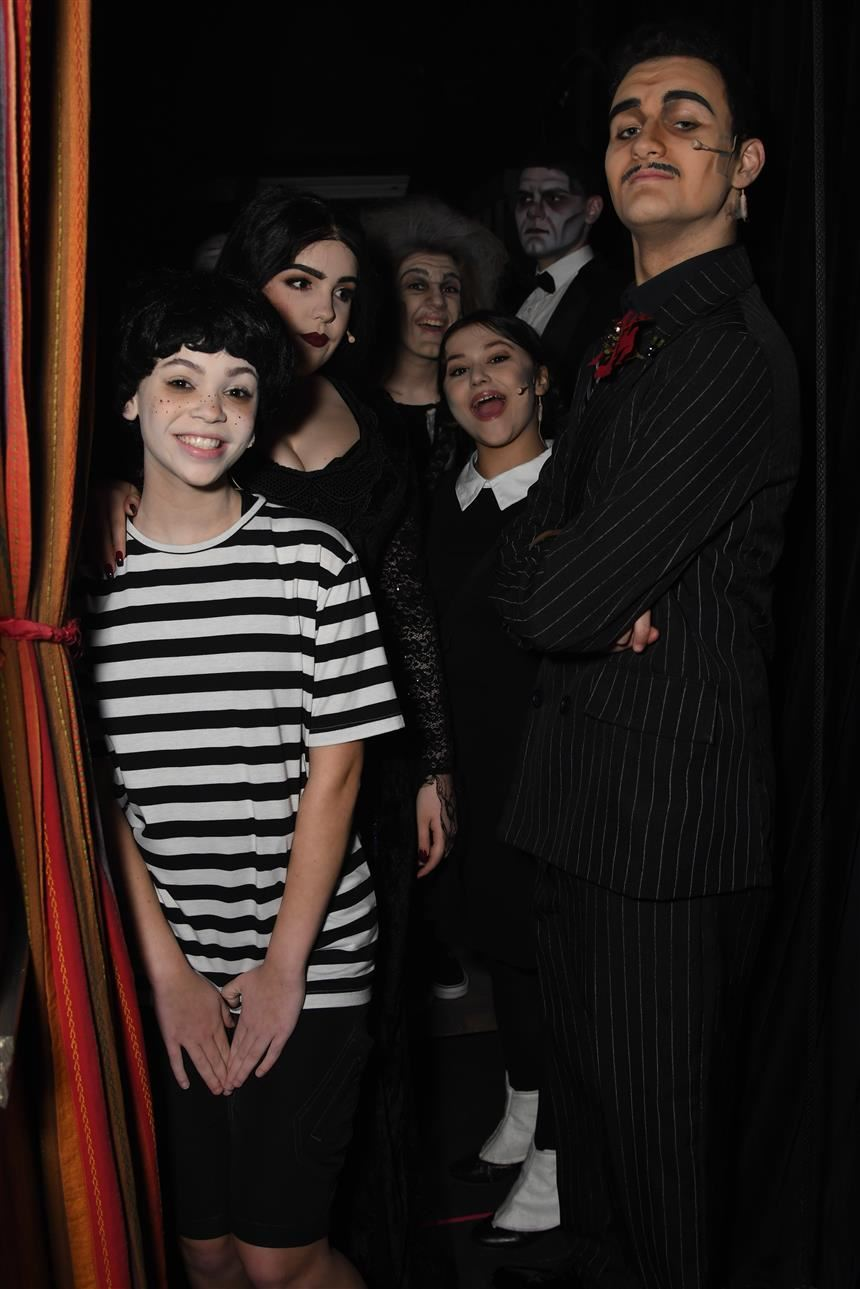 Addams Family Backstage; photo credit: Chris Krusberg '19
