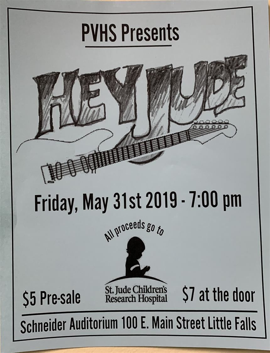 The flyer for Hey Jude 2019; Photo Credit: Isabella Nicosia