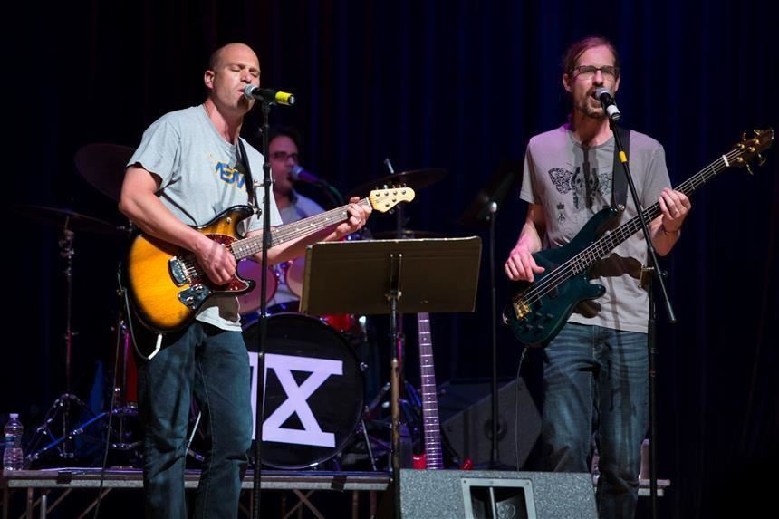 Mr. Deeney and Mr. youngberg performing in Hey Jude 2018; Photo Credit: Chris Krusberg