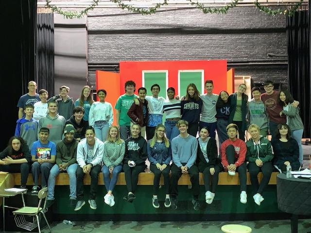 Cast and crew of the Holiday Play; photo credit: Ms. Shue
