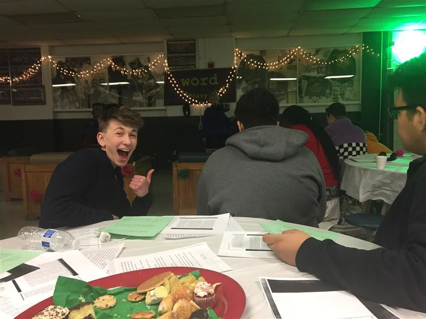 Nicholas Swetlitschnyj '21 enjoying the Coffeehouse Event; photo credit: Raima Islam '21