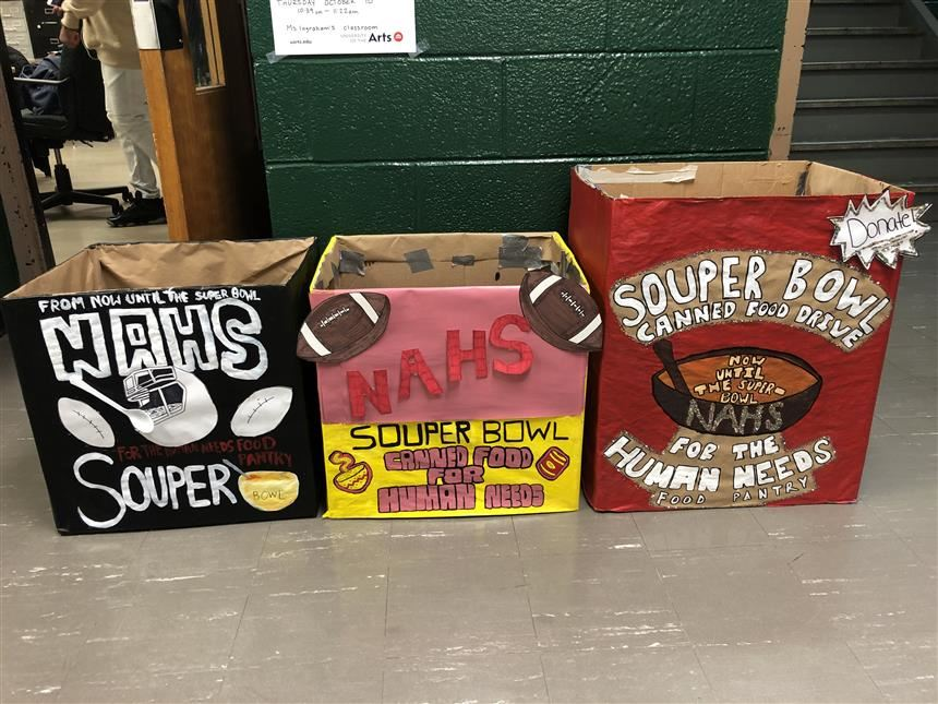 Finished donation boxes; photo credit: Ms. Ingraham
