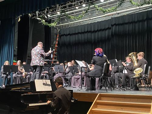 Band performing in Winter Concert; photo credit: Rae Allex