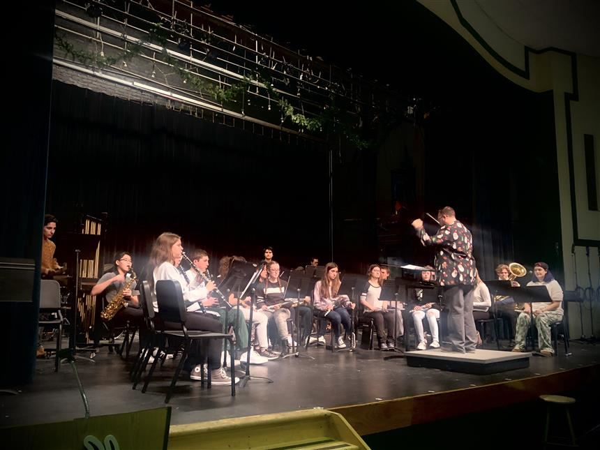 Band performs at Winter Concert; photo credit: Rae Allex