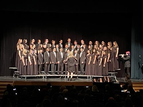 Choir performing at Winter Concert; photo credit: Mr. DeLuccia