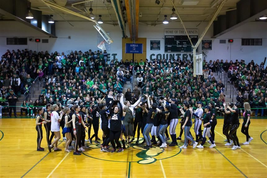 Green and White celebrating their performances together; photo credit: Chris Krusberg
