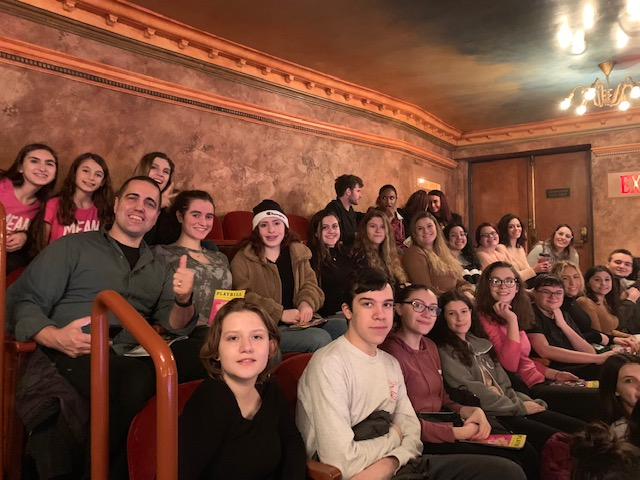 The Passaic Valley Drama Club all together watching Mean Girls. Photo Credit: Jennifer Shue