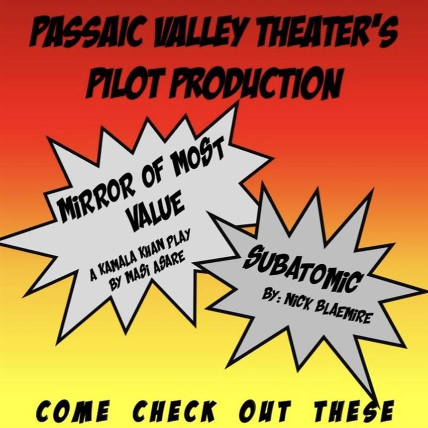 Advertisement of the two one-act Marvel based plays; property of PVHS Theatre