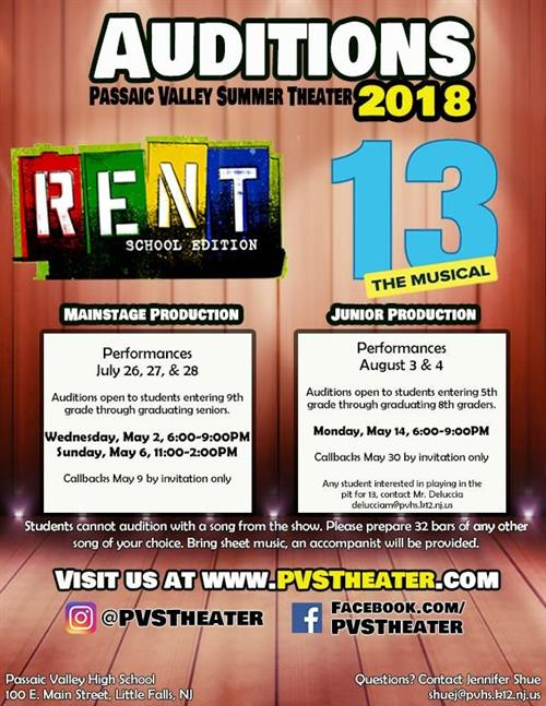 PVST Audition Flyer